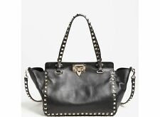 NEW Valentino Mini Rockstud Satchel Bag Noir BLACK/Goldtone Made In Italy $1875+