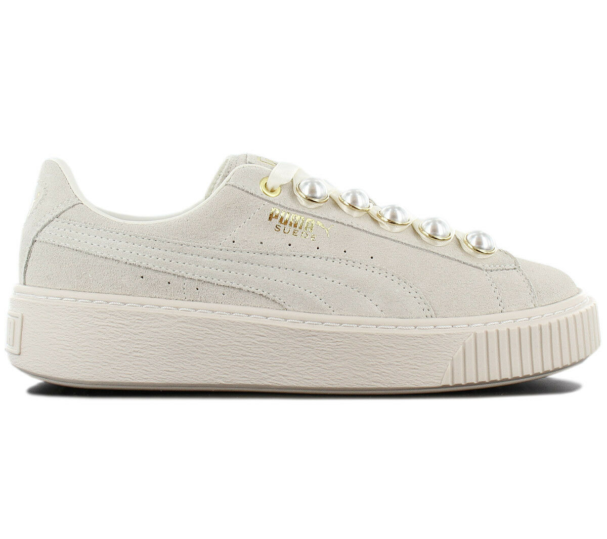 Puma Suede Platform Bling Sneaker Women's shoes Grey-White 366688-02 Trainers