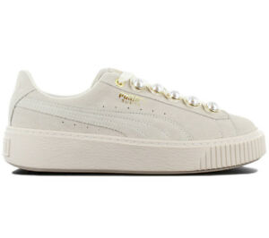Details about Puma Suede Platform Bling Sneaker Women's Shoes Grey White 366688 02 Trainers