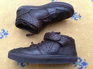 7a46663258b Details about Louis Vuitton Mens Shoes Leather Snakeskin Boots UK 6 US 7 40  High Tops Trainers