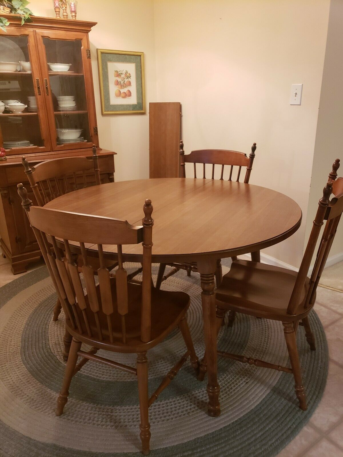 Tell City Solid Hard Rock Maple Dining Room Andover Table 2 leafs