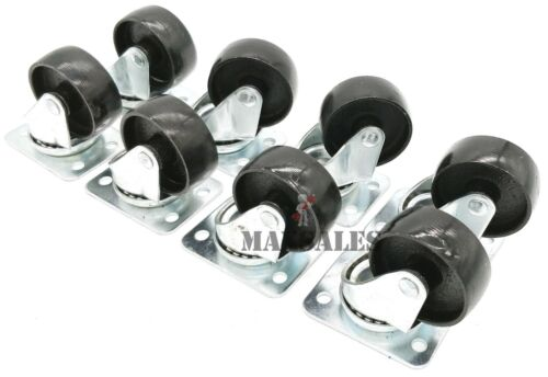 """2/"""" Swivel METAL Caster Wheels Base with Top Plate /& Bearing Qty-8"""