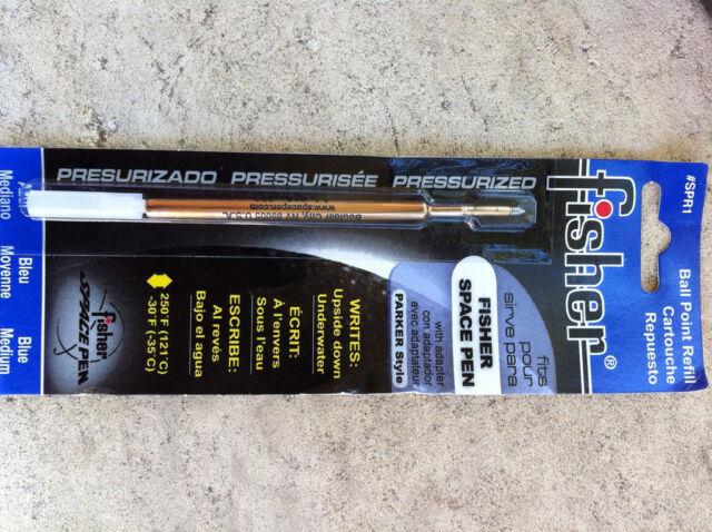 3 x Fisher Space Pen Refills Medium Blue