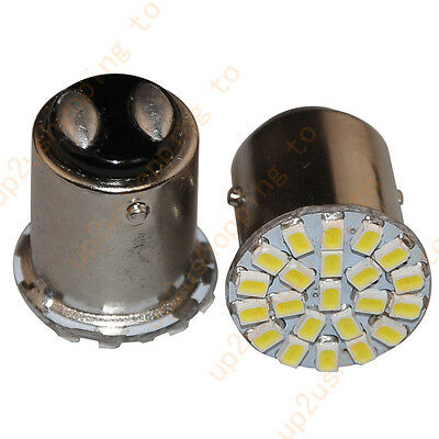 2 x 1157 bay15d 22 SMD LED White Car Bulb Light Brake/Stop/Tail /Reverse Lamp