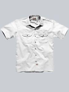 Dickies-Hemd-Shortsleeve-Work-Shirt-Hemd-White-weiss-Groessen-S-bis-4XL