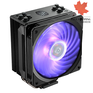 Hyper 212 RGB Black Edition CPU Air Cooler 4 Direct Contact Heat Pipes 120mm ...