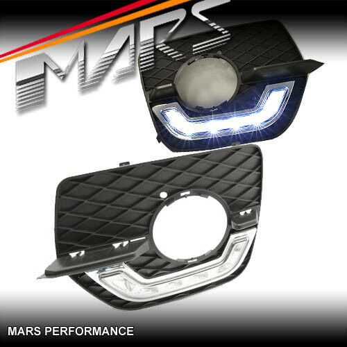 MARS Bumper Bar LED DRL Day-Time Fog Lights Cover Grille for BMW X6 E71