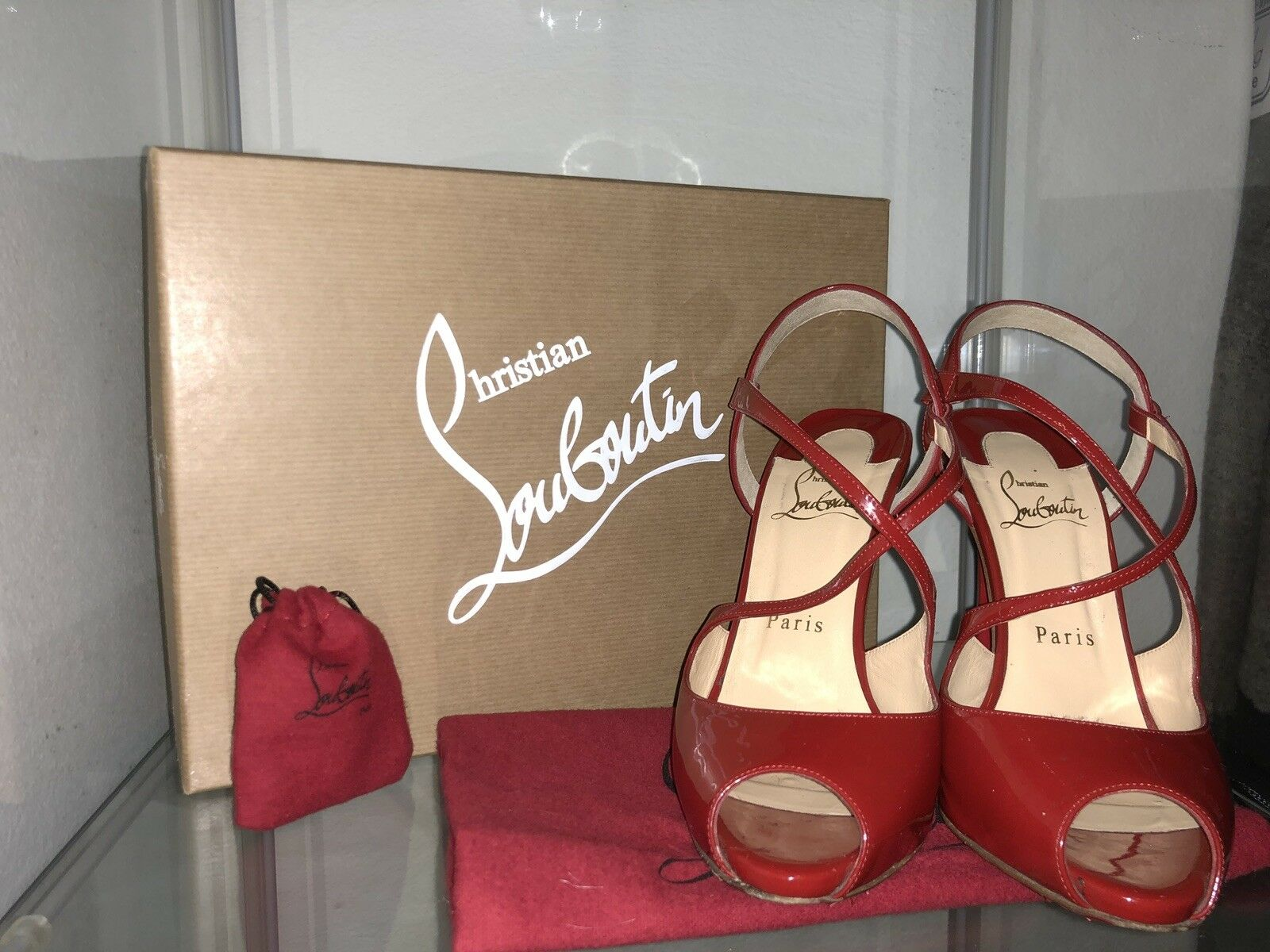 Christian Louboutin Cross street 120 Patent Red