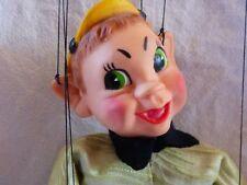 Hazelle's Marionette Little Boy with Yellow Hat Puppet 814A Leprechaun 60s - 70s