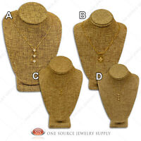 Bust Displays Burlap Necklace Display Showcase Display Jewelry Stand
