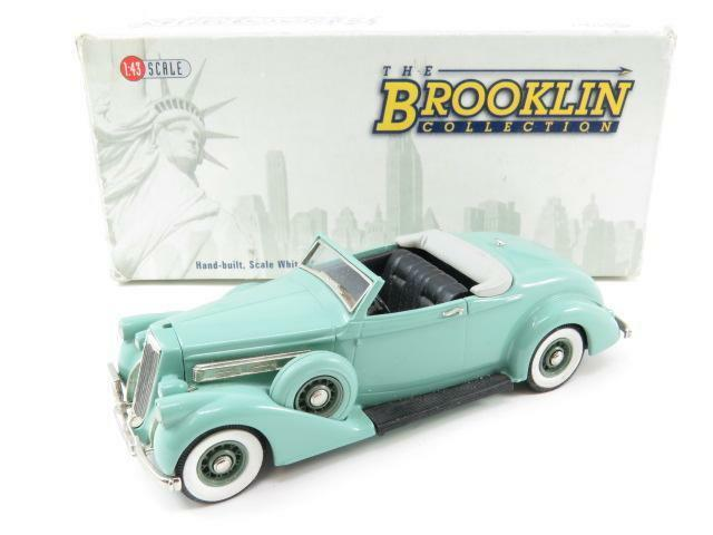 Brooklin modelle brk126 pierce arrow 1936 cabrio weißes metall 143 skala umzingelt