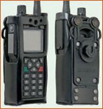 Hartledertasche für Sepura STP8/9000 mit Klick-Fast-Halteknopf