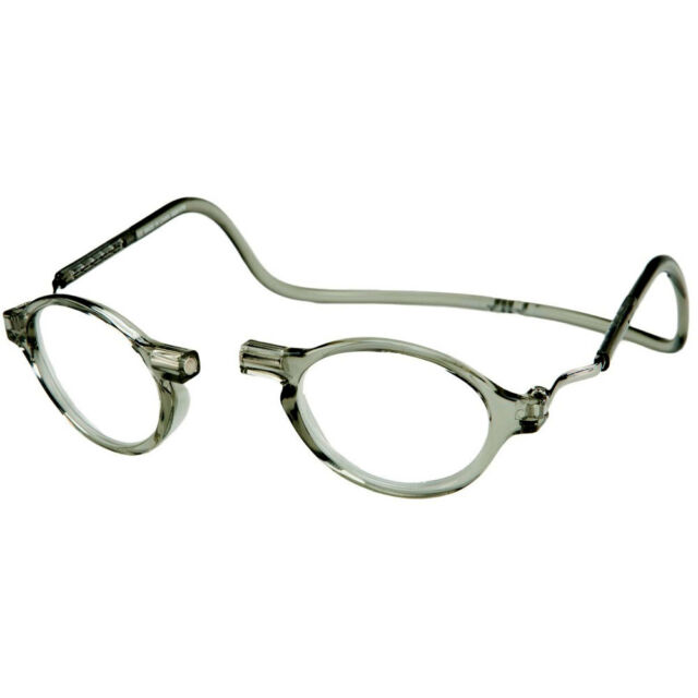 dd412a902b90 CliC Classic Magnetic Neck Hanging Reading Glasses  Smoke +1.25 thru +3.00