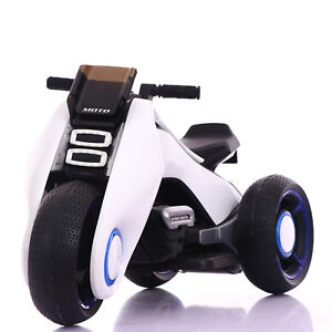 Image Is Loading Bdq 6188 White Electric Mini Tri Scooter Bike