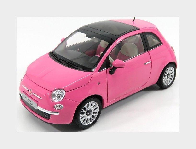 Norev 1 18 2010 Fiat 500 (So Pink) Diecast Car Model 187752