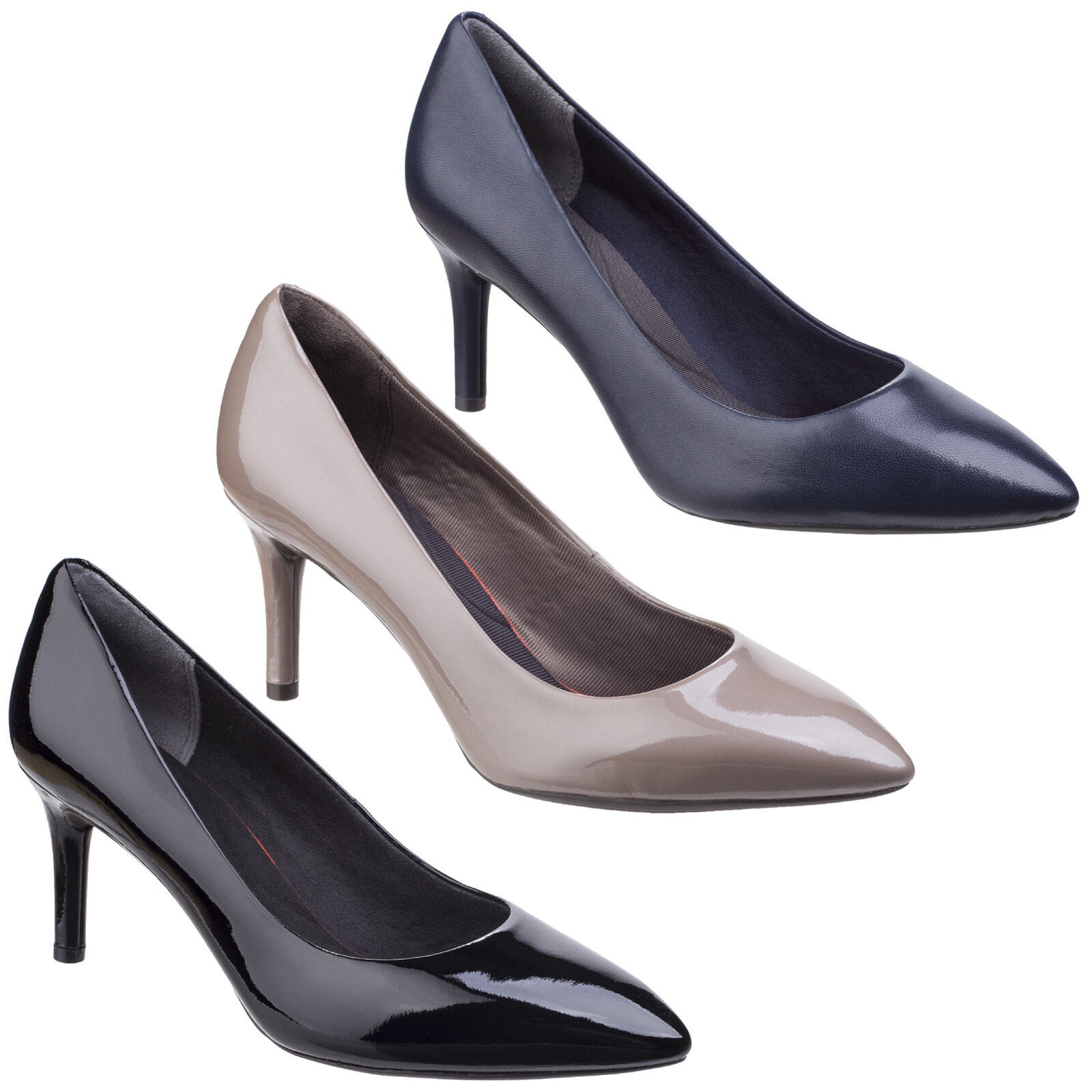 Rockport Total Motion Pointy Toe Pump Womens Leather Casual Ladies Court shoes