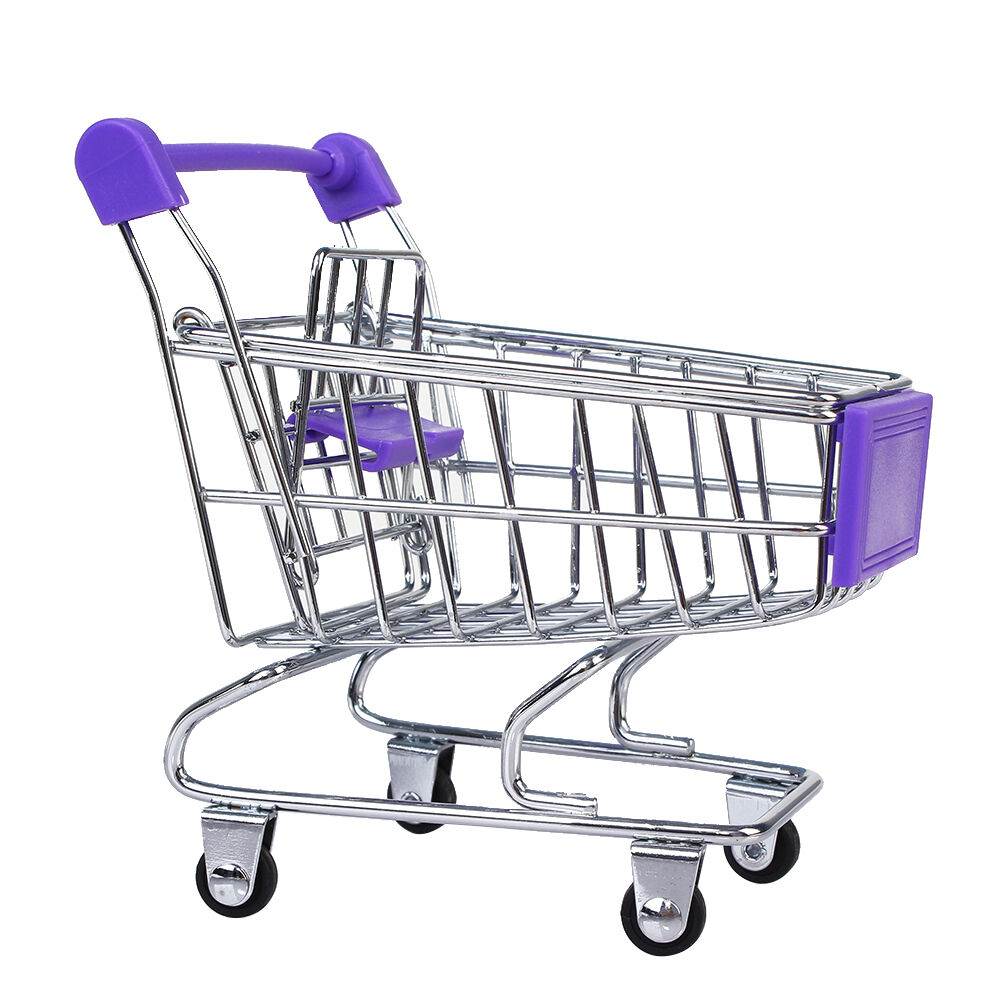 Mini Supermarket Shopping Cart Trolley Pet Bird Parred Hamster Toy Freecolor