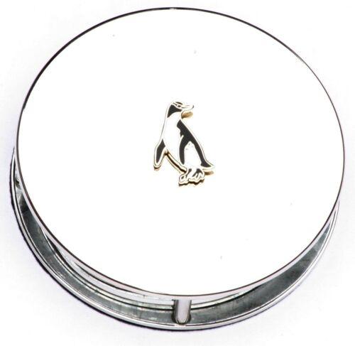Penguin Enamel Motif Magnifying Reading Glass Office Desktop Gift Present