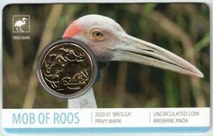 2020-Mob-of-Roos-039-Brolga-039-Privy-Mark-Brisbane-ANDA-SHOW-SPECIAL-1-UNC-Coin