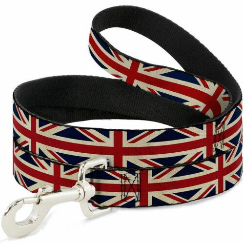 Buckle Down 6 Feet Dog Pet Leash Cat UK Britain USA American Flag Stars Stripes