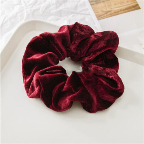 Elastic Hair Rope Ring Tie Scrunchie Ponytail Women Holder Flannel Hair Band 8C