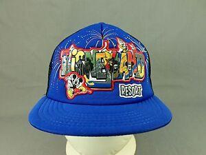 3ad70577a1d Disneyland Resort Hat Cap Walt Disney Parks Snapback Trucker Youth ...