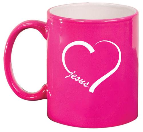 11oz Ceramic Coffee Tea Mug Glass Cup Love Heart Jesus
