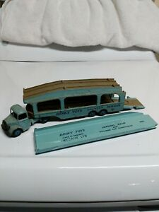 Dinky-Toys-Bedford-and-Pullmore-Car-Transporter-582-Light-Blue-Made-in-England