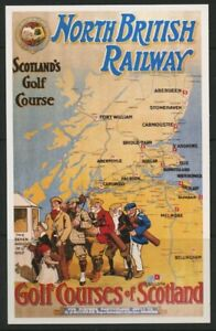 North-British-Railway-Pictorial-Map-Poster-Postcard-Dalkeith-unposted-mint