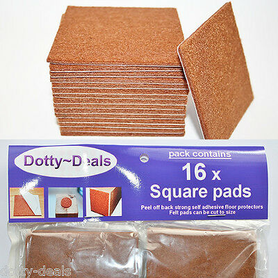 Self Adhesive Protective Wooden Flooring Protection Felt Protect Pads 16 Square