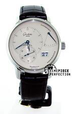 Glashutte Original PanoReserve Manual Wind 40mm Silver Watch 65-01-22-12-04