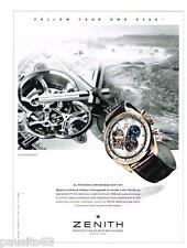 PUBLICITE ADVERTISING 105  2014  ZENITH  montre EL PRIMO CHRONOMASTER 1969