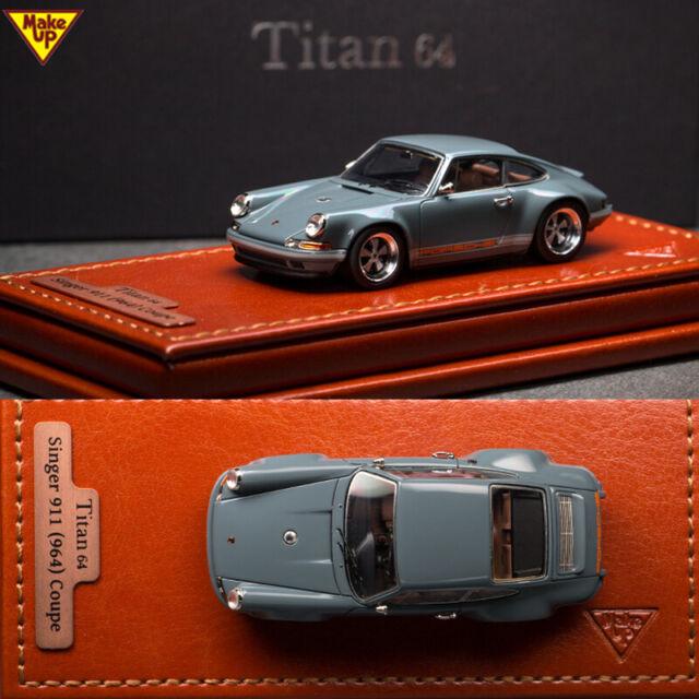 1//64 Make Up Company TM001B Singer Porsche 911//964 Coupe Gray Miniwerks