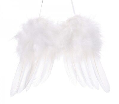 12pc Pink Vintage Feather Hanging Angel Wings Christmas Tree Wedding Decoration