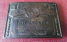 Vintage Budweiser Beer Belt Buckle Wyoming Studio Art Works