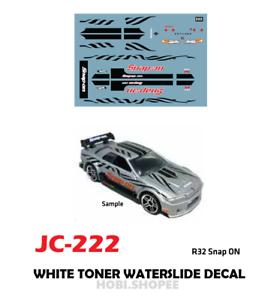 Jc 9222 White Toner Waterslide Decals R32 S On For Custom 1 64 Hot Wheels Ebay