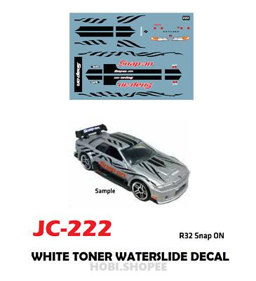 WT157 White Toner Waterslide Decal /> KEN BLOC 2 /> For Custom 1:64 Hot Wheels