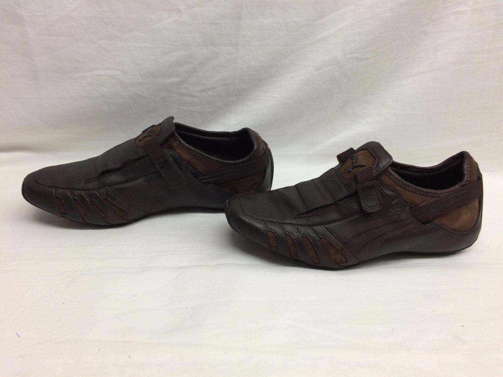 Puma Hombre Vedano Vedano Vedano cuero zapato café / Marron Talla 7 US g dfb840