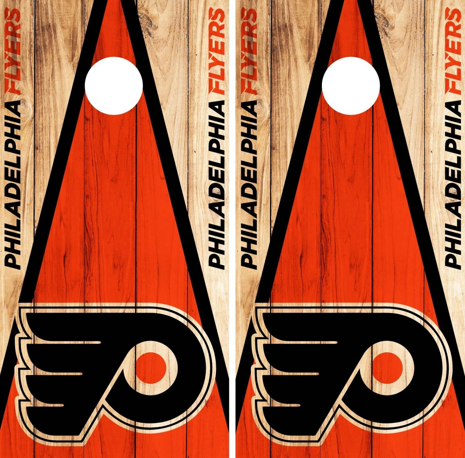 Philadelphia Flyers Cornhole Wrap NHL Game Skin Set Vinyl Decal Decor CO256