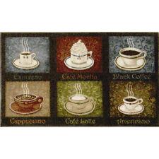 Coffee Themed Rug Soft Kitchen Mat Latte Espresso Mocha Cappuccino Home Decor