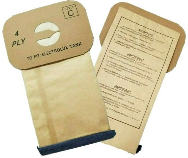 11 Electrolux//Aerus Canister Vacuum Bags Style C Vacuum Cleaner Bags 4 PLY