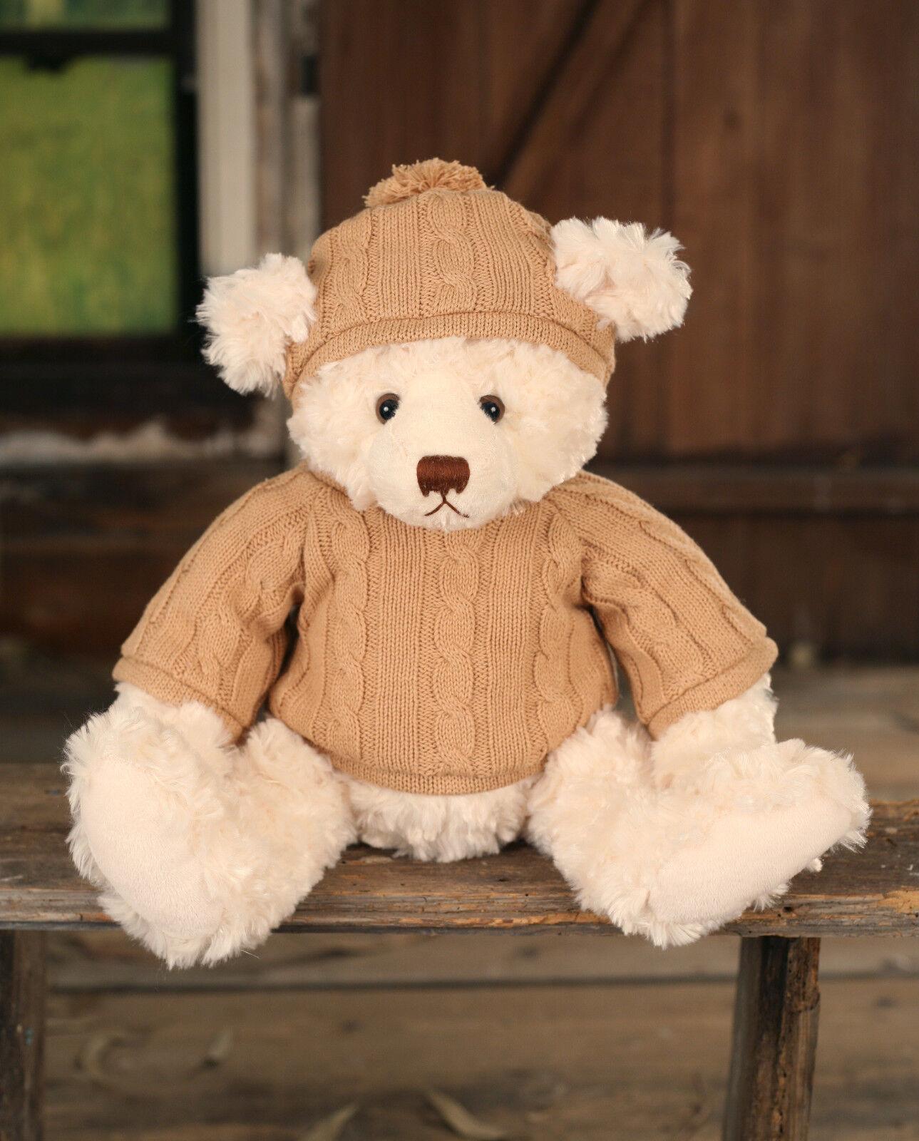 Teddy Bear 'Will' Settler Bears Handmade Collectable Boy Gift Knitted 38cms NEW