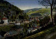 Calw Schwarzwald alte Color Ansichtskarte 1920 gelaufen Teilansicht mit Umgebung