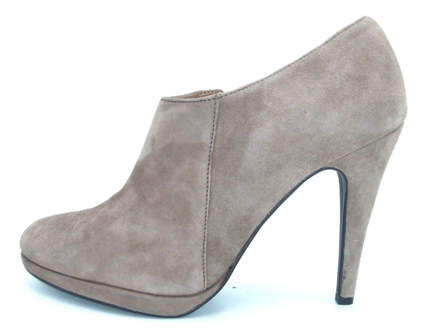 RRP £115 DUNE SIZE 8 41 NBMORB TBUPE REBL LEBTHER SUEDE HIGH HEEL BNKLE BOOTS BN