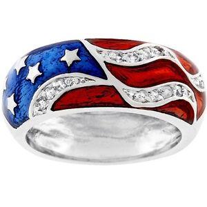 Kate-Bissett-Silvertone-Patriotic-Cubic-Zirconia-Ring