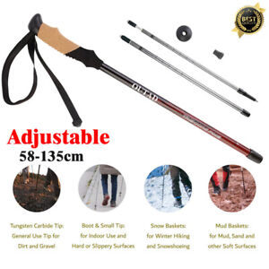 Anti-shock-Walking-Hiking-Stick-Alpenstock-Adjustable-Retractable-Trekking-Pole