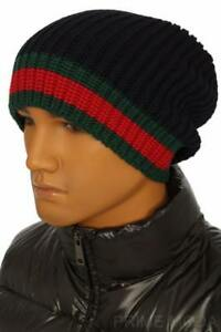 e8cf2fd9fb8 Image is loading NEW-GUCCI-WEB-KNIT-WOOL-BEANIE-HAT-58-