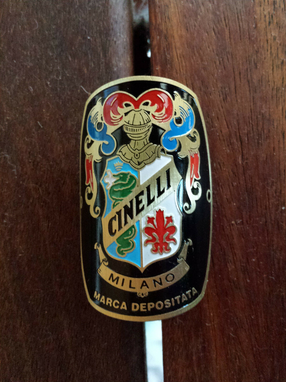 Cinelli Milano Bicycles Metal Headbadge - Gold Gold Gold Type c0407a