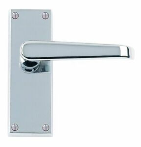 6-x-Sets-of-Straight-Lever-Latch-Door-Handles-Polished-Chrome