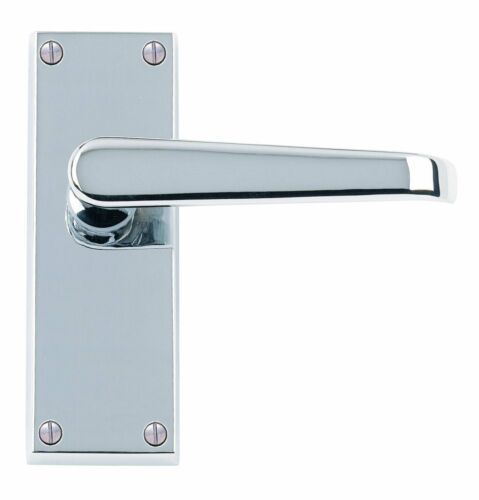 6 x Sets of Straight Lever Latch Door Handles Polished Chrome